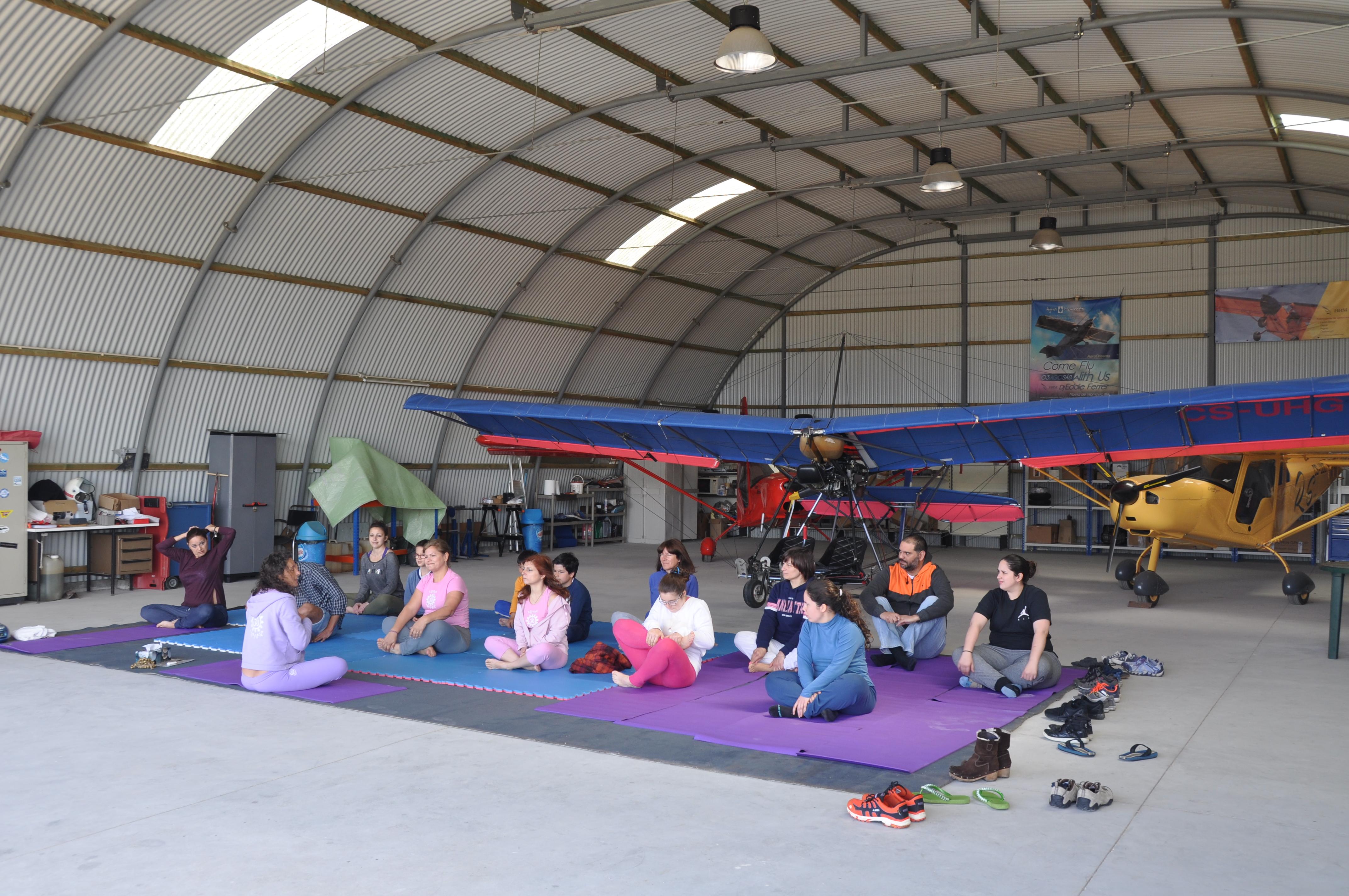 Yoga e aviões